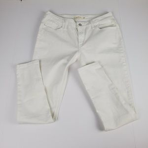 Levi 535 Super Skinny Size 32 White Jeans